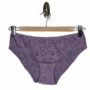 Victoria's Secret Lace Emma Hipster Panties Purple